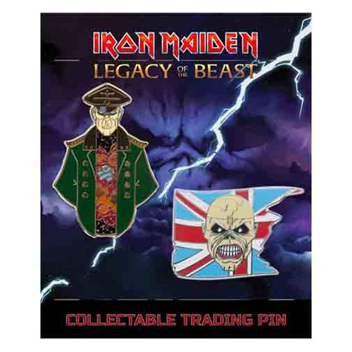 Iron Maiden Legacy of the Beast Set 1 Trooper Eddie and General Lapel Pin 2-Pack