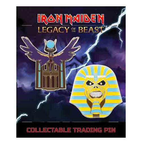 Iron Maiden Legacy of the Beast Set 2 Pharaoh and Aset Lapel Pin 2-Pack