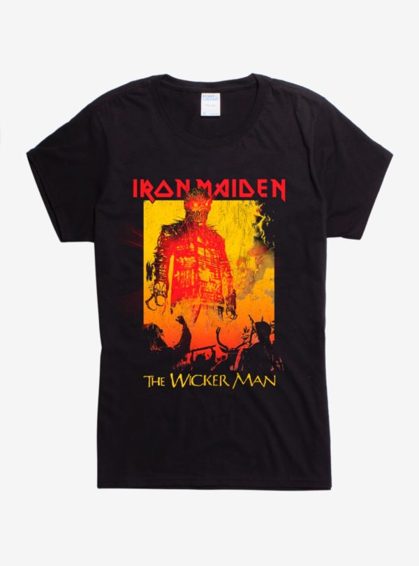Iron Maiden The Wicker Man Girls T-Shirt
