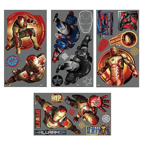 Iron Man 3 Peel and Stick Wall Decals