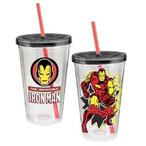 Iron Man Marvel 18 oz. Acrylic Travel Cup