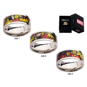 Iron Man Printed Comics Stainless Steel Ring