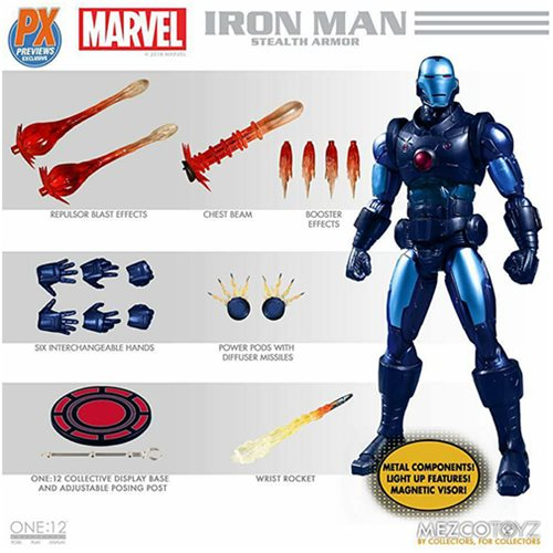 Iron Man Stealth Armor Suit One:12 Collective Action Figure - Previews Exclusive