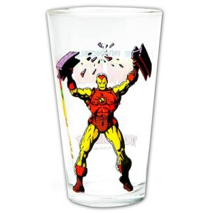 Iron Man Toon Tumbler Pint Glass