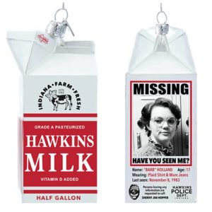Stranger Things Barb Hawkins Milk Carton Glass Ornament