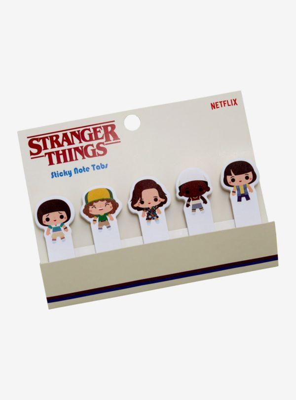 Stranger Things Chibi Characters Sticky Tabs