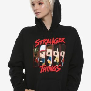Stranger Things Chibi Girls Hoodie