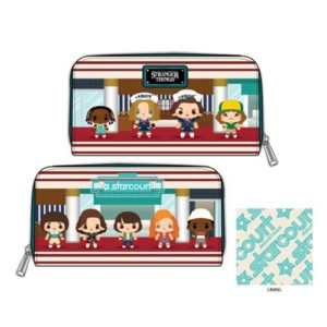 Stranger Things Chibi Print Zip-Around Wallet