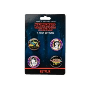 Stranger Things Palace Arcade Button 4-Pack