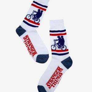 Stranger Things Striped Crew Socks