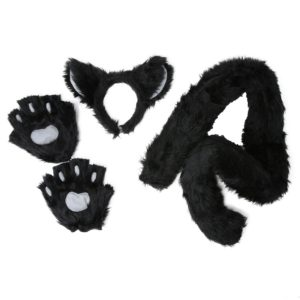 Deluxe Black Cat Fancy Dress Costume Kit