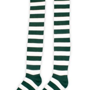 Green and White Munchkin Socks
