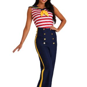 Perfect Pin Up Sailor Fancy Dress Costume for Women
