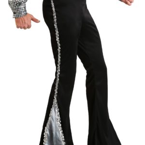 Silver Sequin Men's Disco Pants