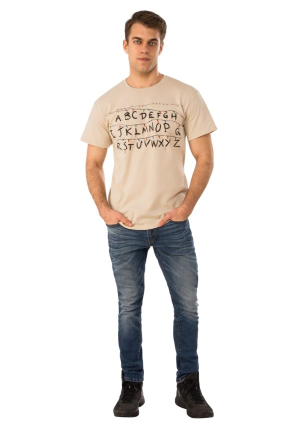 Stranger Things Adult Alphabet Shirt