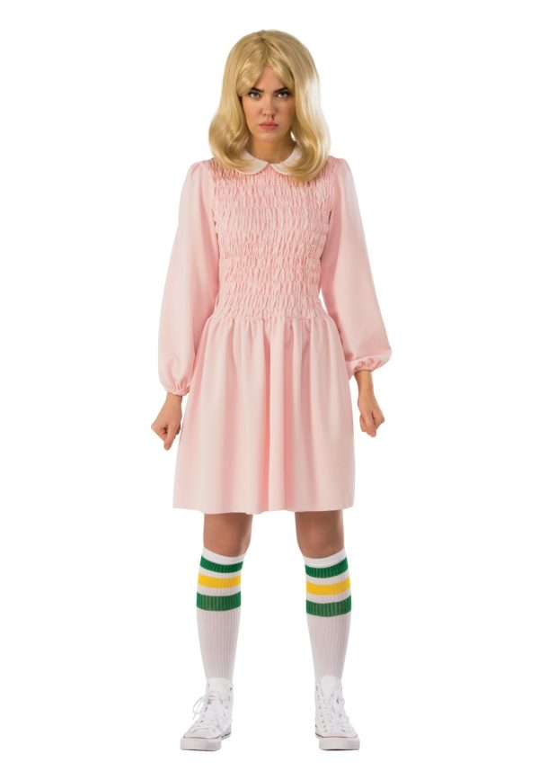Stranger Things Eleven Dress Fancy Dress Costume for Women