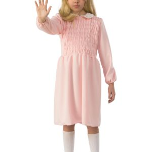 Stranger Things Eleven Long Sleeve Dress Child Fancy Dress Costume