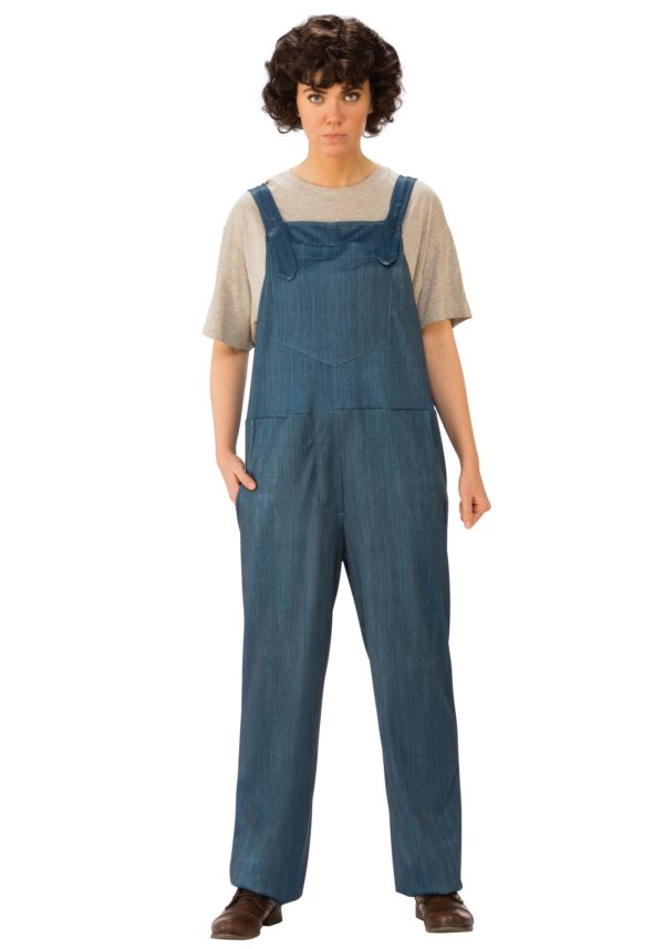 Stranger Things Eleven Overalls Adult Fancy Dress Costume