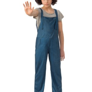 Stranger Things Eleven Overalls Child Fancy Dress Costume