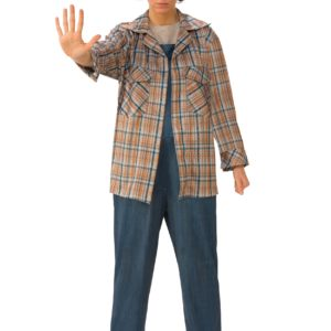 Stranger Things Eleven Plaid Adult Shirt