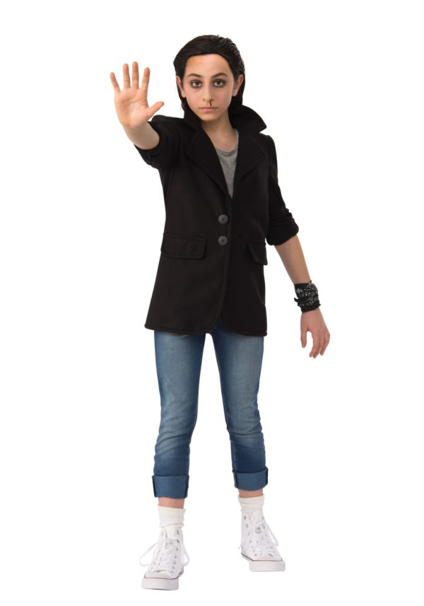 Stranger Things Eleven Punk Child Fancy Dress Costume