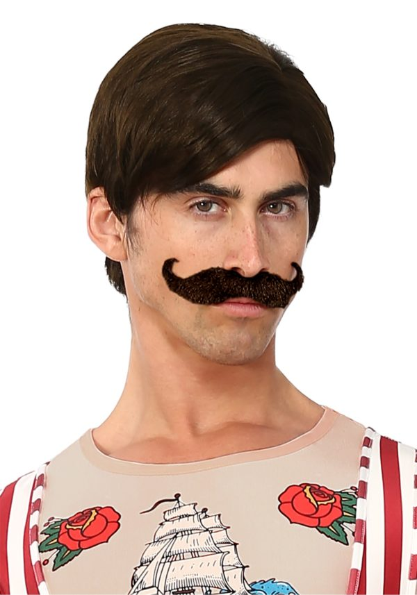 Strongman Wig and Mustache for Men