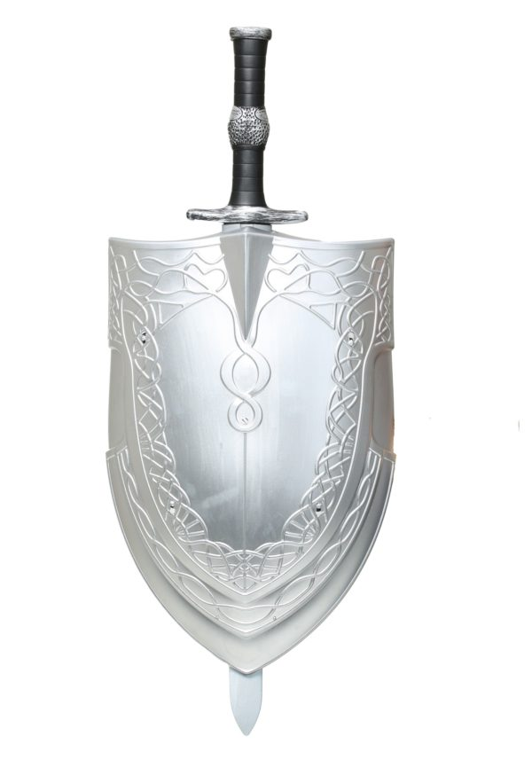 Valiant Knight Silver Sword & Shield