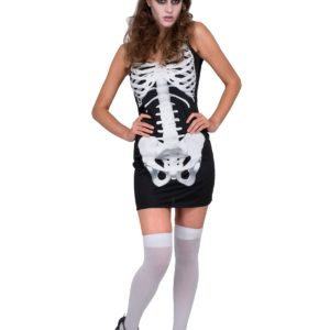 Women's Skeleton Dress Fancy Dress Costume