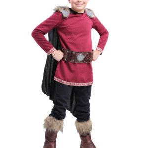 Burgundy Viking Costume for Boys