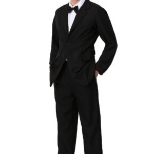 Mens Black Suit Costume