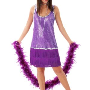 Purple Flapper Dress Costume