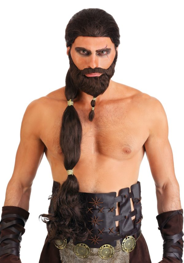 Warrior King Wig and Beard Set