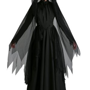 Women's Lady in Black Ghost Costume